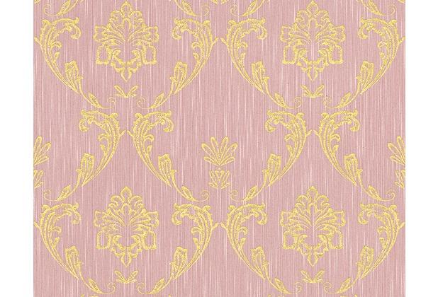 Architects Paper klassische Mustertapete Metallic Silk Textiltapete rosa metallic 306585 10,05 m x 0,53 m