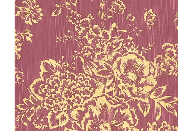 Architects Paper klassische Mustertapete Metallic Silk Textiltapete rot metallic 306576 10,05 m x 0,53 m