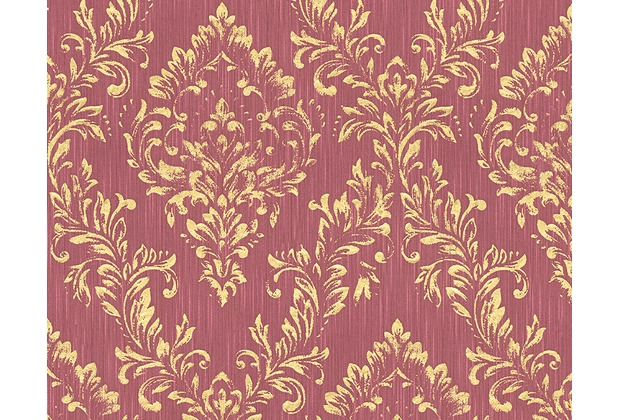 Architects Paper klassische Mustertapete Metallic Silk Textiltapete rot metallic 306596 10,05 m x 0,53 m