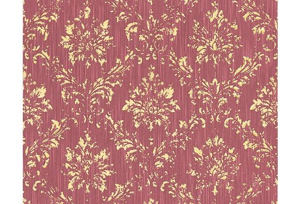 Architects Paper klassische Mustertapete Metallic Silk Textiltapete rot metallic 306626 10,05 m x 0,53 m