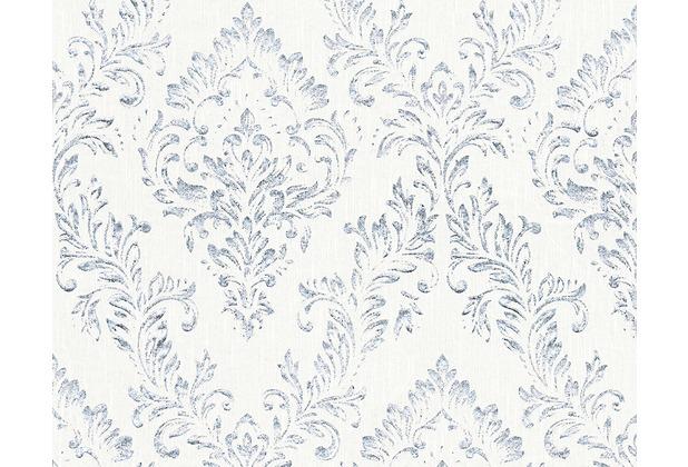 Architects Paper klassische Mustertapete Metallic Silk Textiltapete weiß metallic 306591 10,05 m x 0,53 m