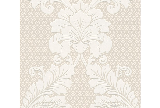 Architects Paper klassische Mustertapete mit Echtflock Luxury wallpaper Vliestapete creme metallic 305441