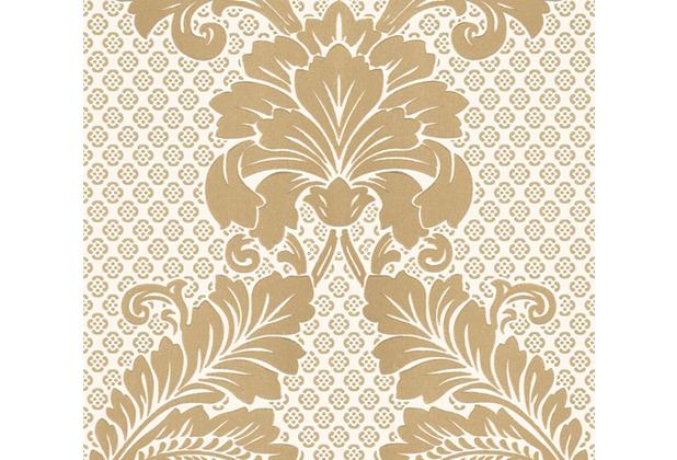 Architects Paper klassische Mustertapete mit Echtflock Luxury wallpaper Vliestapete creme metallic 305442