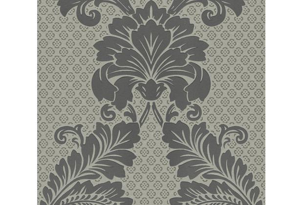 Architects Paper klassische Mustertapete mit Echtflock Luxury wallpaper Vliestapete grau metallic 305444