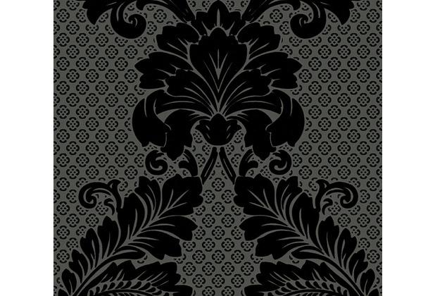 Architects Paper klassische Mustertapete mit Echtflock Luxury wallpaper Vliestapete schwarz grau 305445