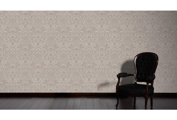 Architects Paper klassische Mustertapete mit Glasperlen Luxury wallpaper Vliestapete braun metallic 10,05 m x 0,52 m