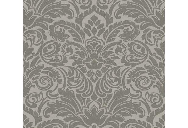 Architects Paper klassische Mustertapete mit Glasperlen Luxury wallpaper Vliestapete grau metallic 305453