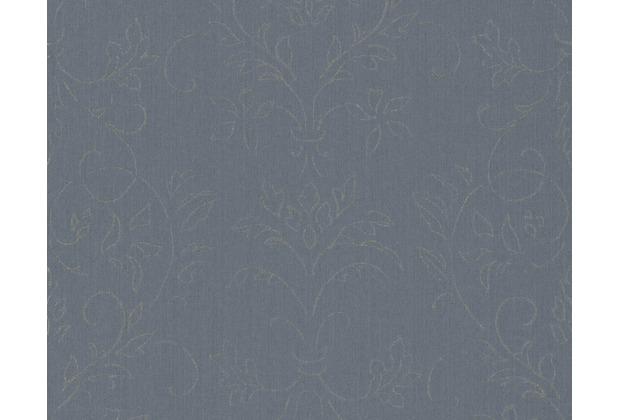 Architects Paper klassische Mustertapete mit Glitter Haute Couture 3, blau, grau, metallic 290663 10,05 m x 0,53 m