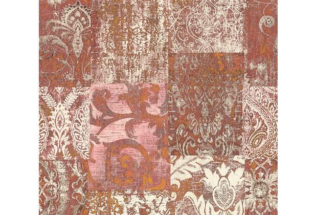 Architects Paper Mustertapete im Ethno-Look Luxury Classics Vliestapete creme metallic rot 343742 10,05 m x 0,53 m