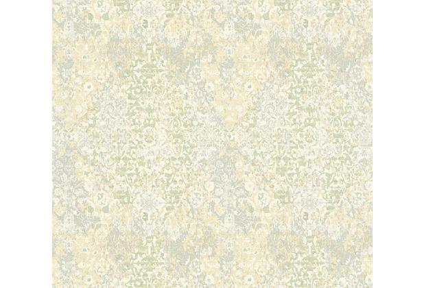 Architects Paper Mustertapete im Vintage Look Luxury Classics Vliestapete creme grau grün 343751 10,05 m x 0,53 m