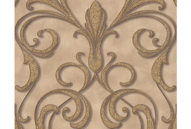 Architects Paper Mustertapete Nobile, Tapete, beige, braun, metallic 958921 10,05 m x 0,70 m
