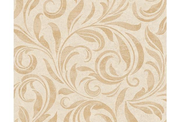 Architects Paper Mustertapete Nobile, Tapete, beige, creme, metallic 959404 10,05 m x 0,70 m