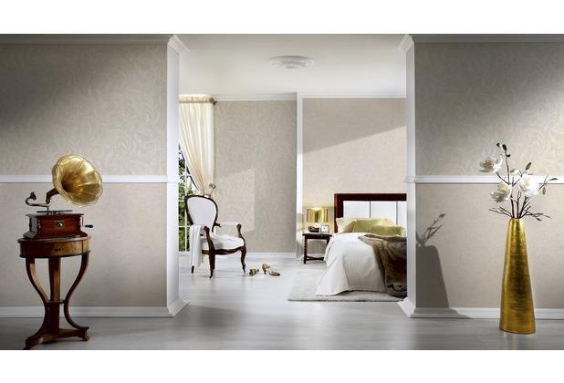 Architects Paper Mustertapete Nobile, Tapete, beige, creme, metallic 10,05 m x 0,70 m