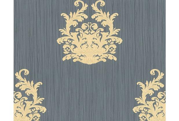 Architects Paper Mustertapete Nobile, Tapete, blau, metallic 958615 10,05 m x 0,70 m