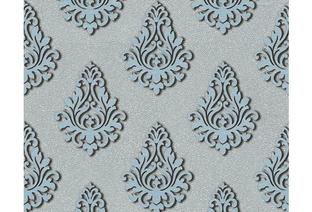 Architects Paper Mustertapete Nobile, Tapete, blau, metallic 959816 10,05 m x 0,70 m