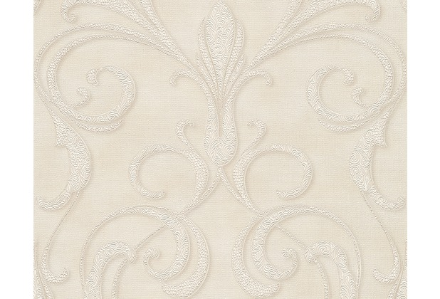 Architects Paper Mustertapete Nobile, Tapete, creme, metallic, weiß 958923 10,05 m x 0,70 m