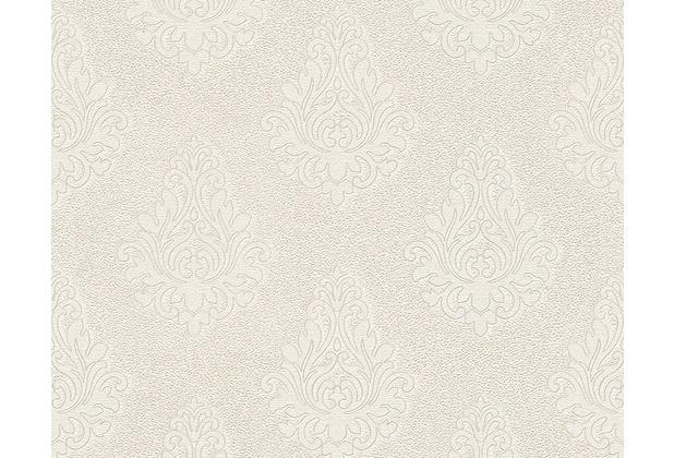 Architects Paper Mustertapete Nobile, Tapete, creme, metallic, weiß 959812 10,05 m x 0,70 m