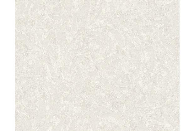 Architects Paper Mustertapete Nobile, Tapete, metallic, weiß 959402 10,05 m x 0,70 m