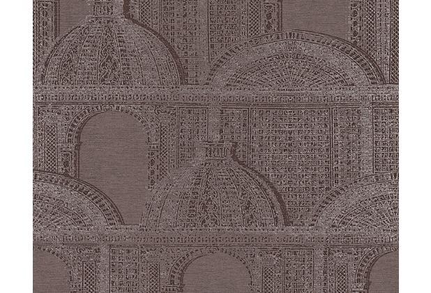Architects Paper Mustertapete Piazza, Vliestapete, braun, grau, metallic 961105