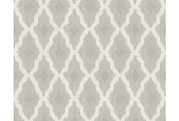 Architects Paper Mustertapete Tessuto 2, Textiltapete, beige, creme 961972