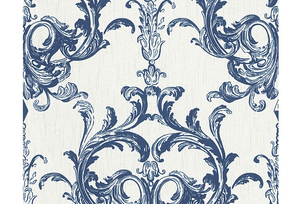 Architects Paper Mustertapete Tessuto 2, Textiltapete, blau, weiß 961964