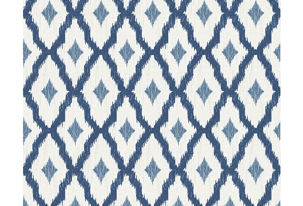 Architects Paper Mustertapete Tessuto 2, Textiltapete, blau, weiß 961974
