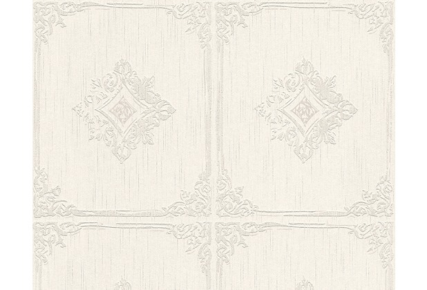 Architects Paper Mustertapete Tessuto 2, Textiltapete, creme, grau 961992