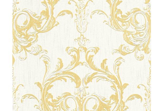 Architects Paper Mustertapete Tessuto 2, Textiltapete, gelb, weiß 961965