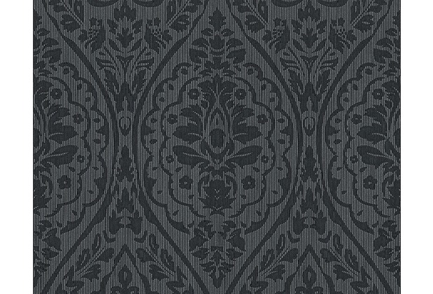 Architects Paper Mustertapete Tessuto 2, Textiltapete, grau, schwarz 961959