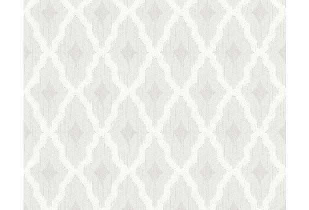 Architects Paper Mustertapete Tessuto 2, Textiltapete, weiß 961971