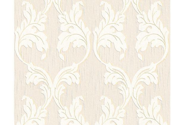 Architects Paper Mustertapete Tessuto, Textiltapete, elfenbein, signalweiß, perlweiß 956287 10,05 m x 0,53 m