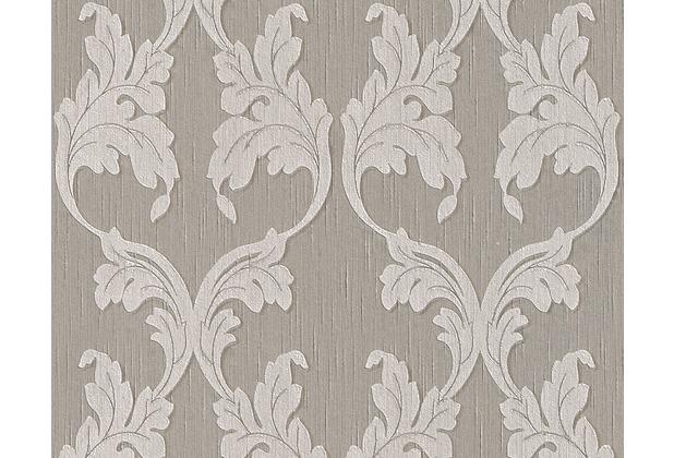 Architects Paper Mustertapete Tessuto, Textiltapete, graubeige, seidengrau 956286 10,05 m x 0,53 m