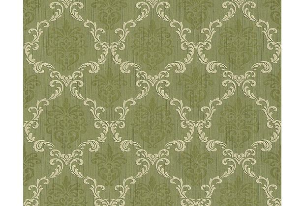 Architects Paper Mustertapete Tessuto, Textiltapete, kieselgrau, schilfgrün 956294 10,05 m x 0,53 m