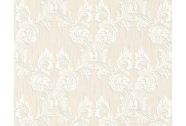 Architects Paper Mustertapete Tessuto, Textiltapete, signalweiß, perlweiß 956307 10,05 m x 0,53 m