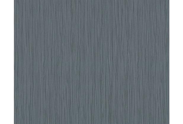 Architects Paper Streifentapete Nobile, Tapete, blau, metallic 958625 10,05 m x 0,70 m