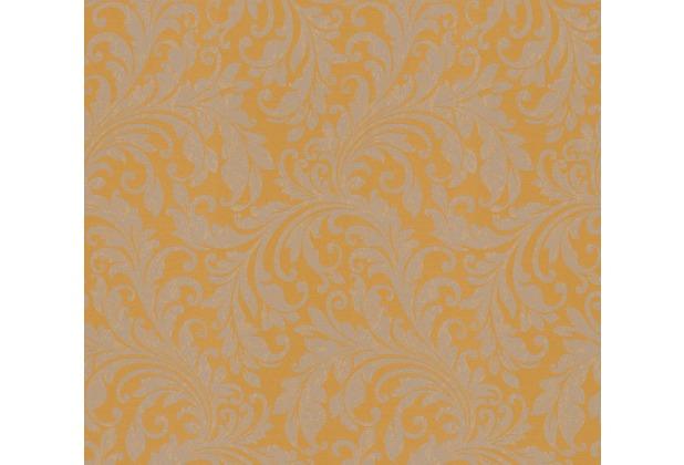 Architects Paper Textiltapete Di Seta Tapete mit floralen Ornamenten honiggelb metallic 366665 10,05 m x 0,70 m