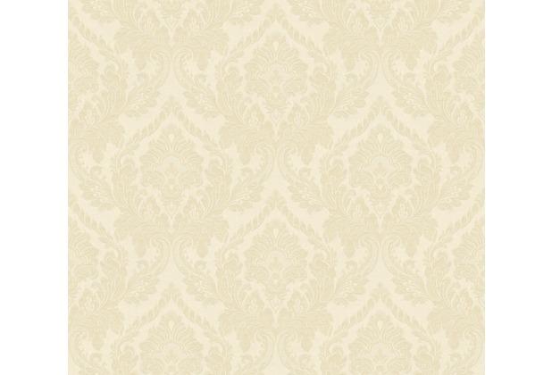 Architects Paper Textiltapete Di Seta Tapete mit Ornamenten barock hellelfenbein metallic 366682 10,05 m x 0,70 m