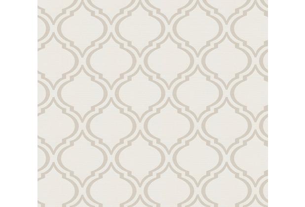 Architects Paper Textiltapete Di Seta Tapete mit Ornamenten barock seidengrau metallic 366652 10,05 m x 0,70 m
