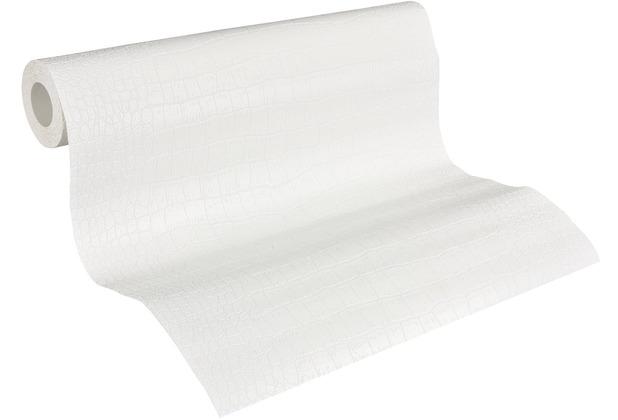 Architects Paper Vliestapete Meistervlies Tapete in Reptilien Optik überstreichbar weiß 950512 10,05 m x 0,53 m