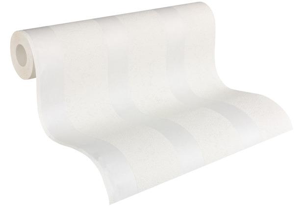 Architects Paper Vliestapete Meistervlies Blockstreifentapete überstreichbar weiß 957115 10,05 m x 0,53 m
