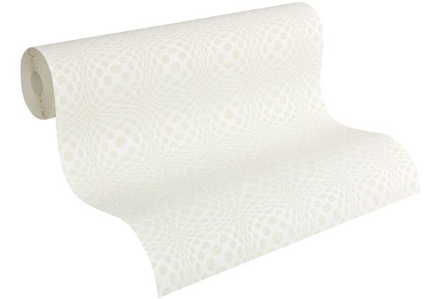 Architects Paper Vliestapete Meistervlies Tapete in 3D Optik überstreichbar weiß 951711 10,05 m x 0,53 m