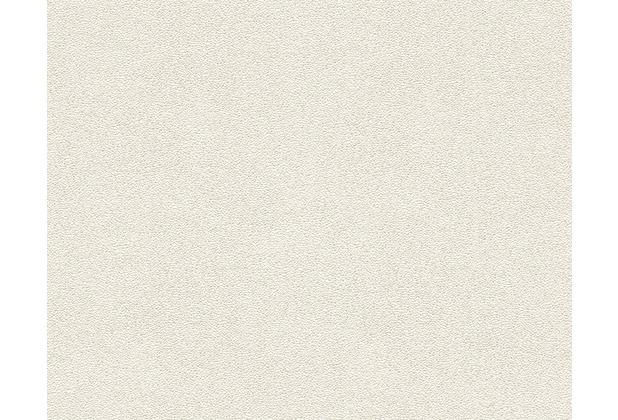 Architects Paper Uni-, Strukturtapete Nobile, Tapete, metallic, weiß 959821 10,05 m x 0,70 m