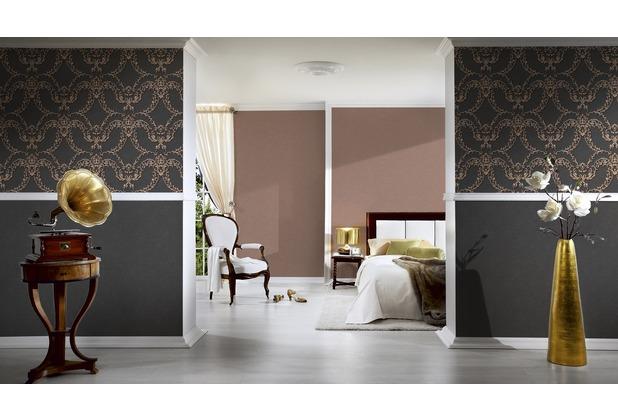 Architects Paper Unitapete Luxury Classics Vliestapete braun metallic 10,05 m x 0,53 m