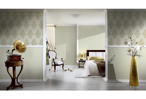 Architects Paper Unitapete Luxury Classics Vliestapete grün metallic 10,05 m x 0,53 m