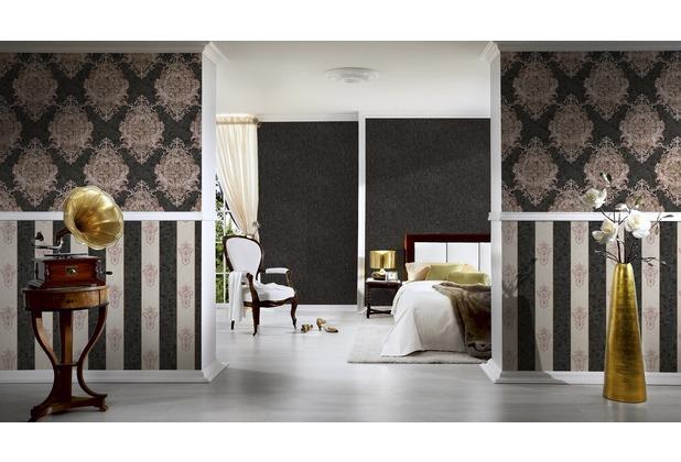 Architects Paper Unitapete Luxury Classics Vliestapete metallic schwarz 10,05 m x 0,53 m