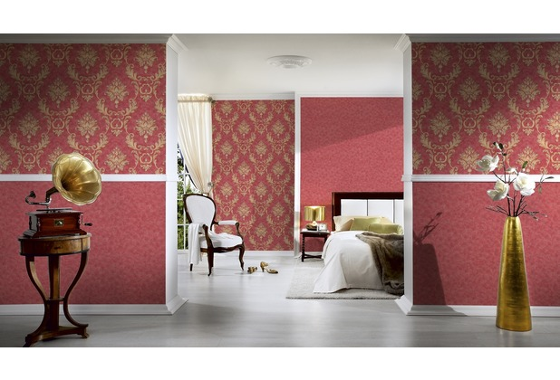 Architects Paper Unitapete Luxury wallpaper Tapete metallic rot 10,05 m x 0,53 m