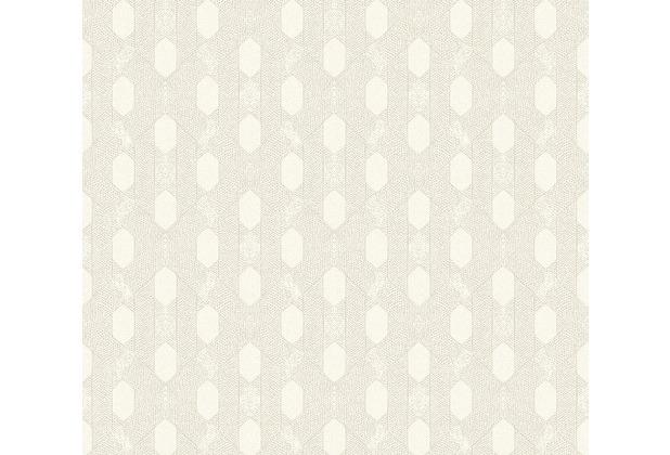 Architects Paper Vliestapete Absolutely Chic Tapete geometrisch grafisch metallic creme grau 369733 10,05 m x 0,53 m