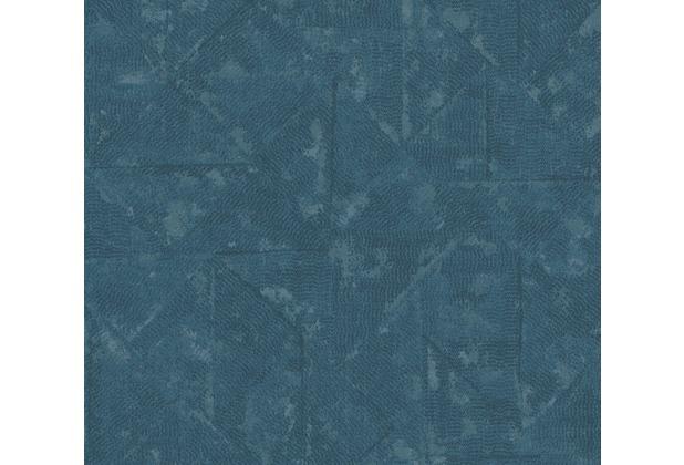 Architects Paper Vliestapete Absolutely Chic Tapete im Ethno Look blau grau metallic 369751 10,05 m x 0,53 m