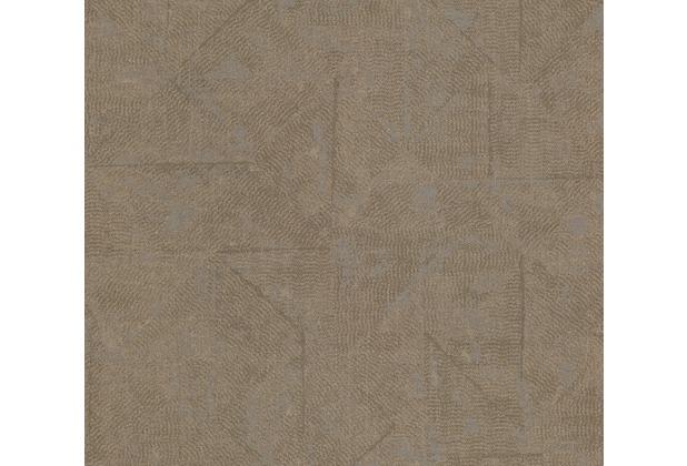 Architects Paper Vliestapete Absolutely Chic Tapete im Ethno Look metallic braun grau 369748 10,05 m x 0,53 m