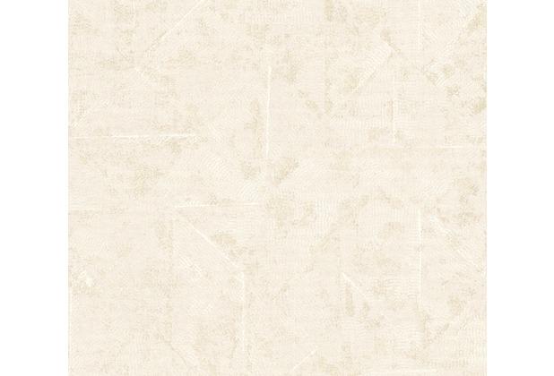 Architects Paper Vliestapete Absolutely Chic Tapete im Ethno Look metallic weiß creme 369743 10,05 m x 0,53 m